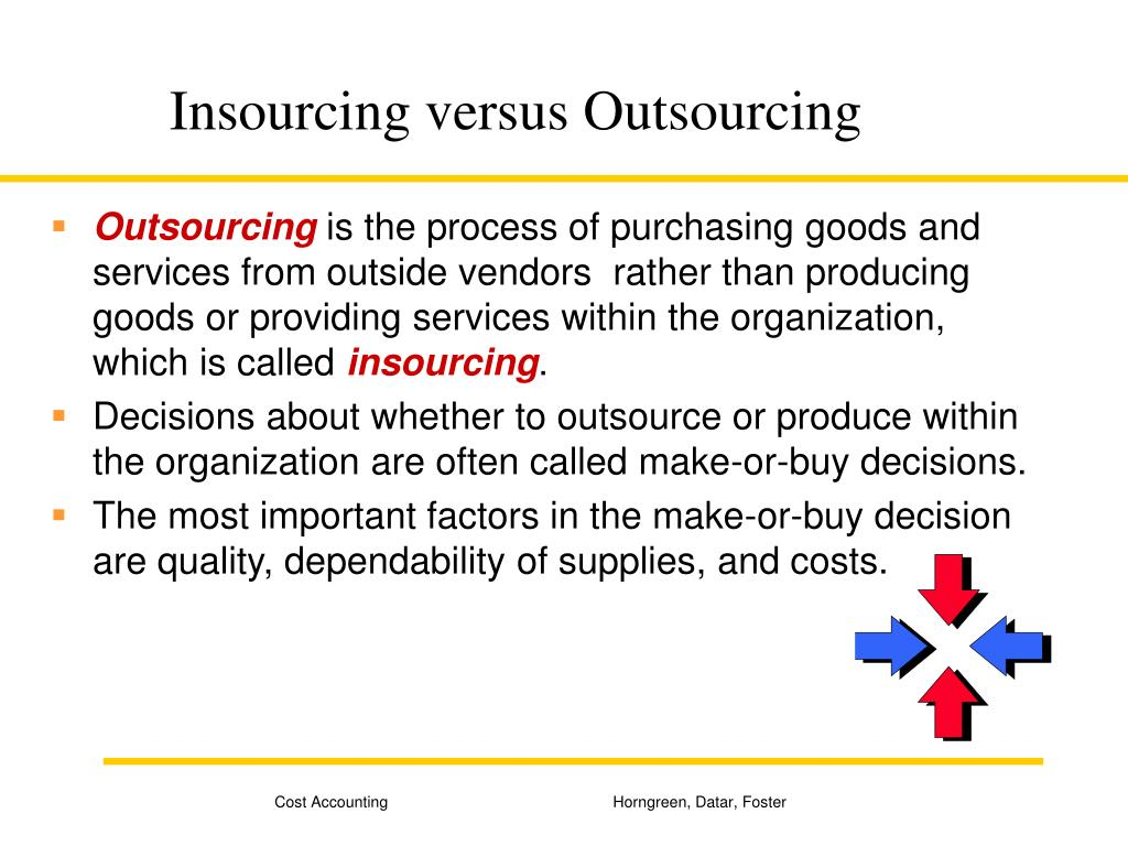 Insourcing versus Outsourcing