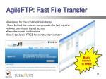agileftp fast file transfer