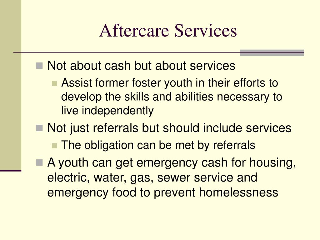 Aftercare Services