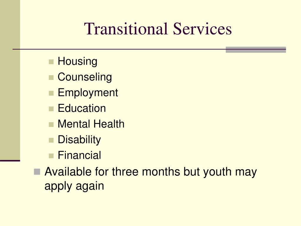 Transitional Services