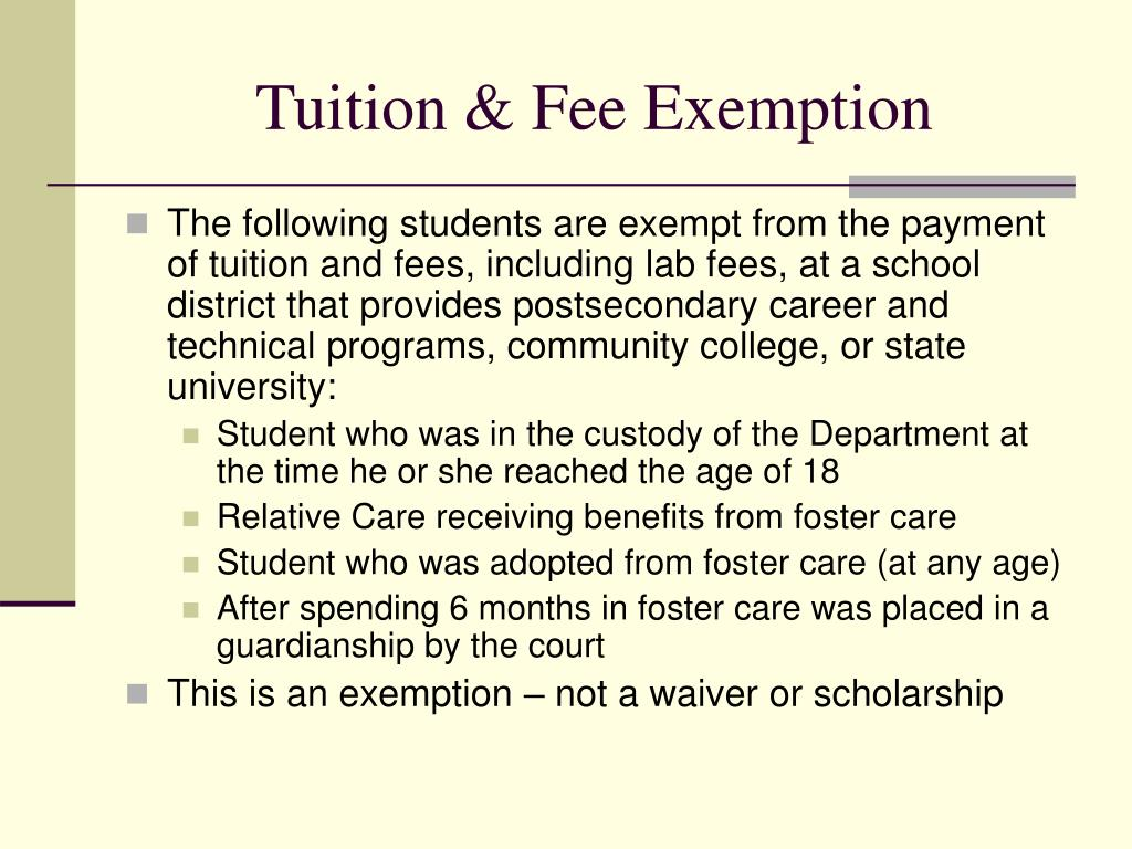 Tuition & Fee Exemption