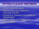 apprenticeship partners