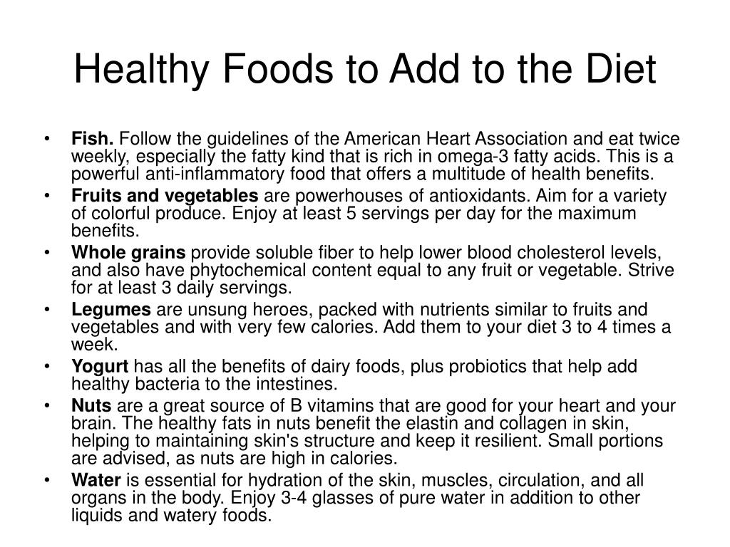Healthy Foods to Add to the Diet