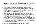 importance of exercise after 50