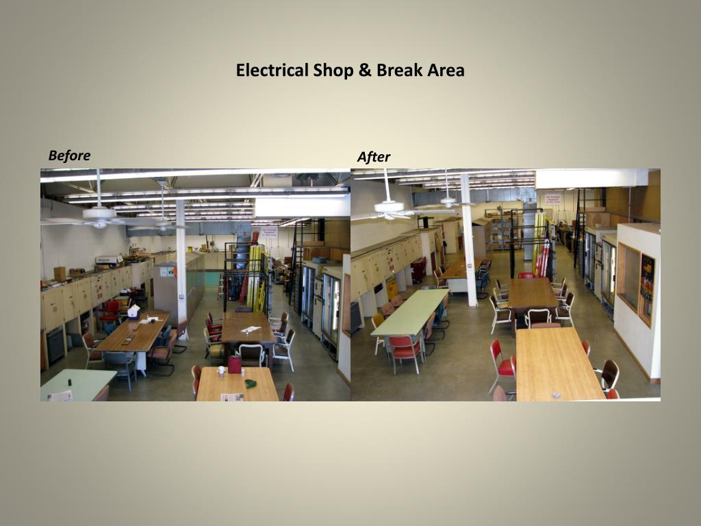 Electrical Shop & Break Area