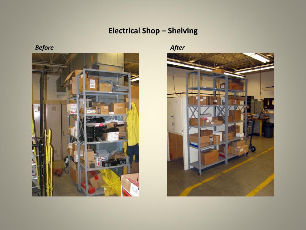 Electrical Shop – Shelving