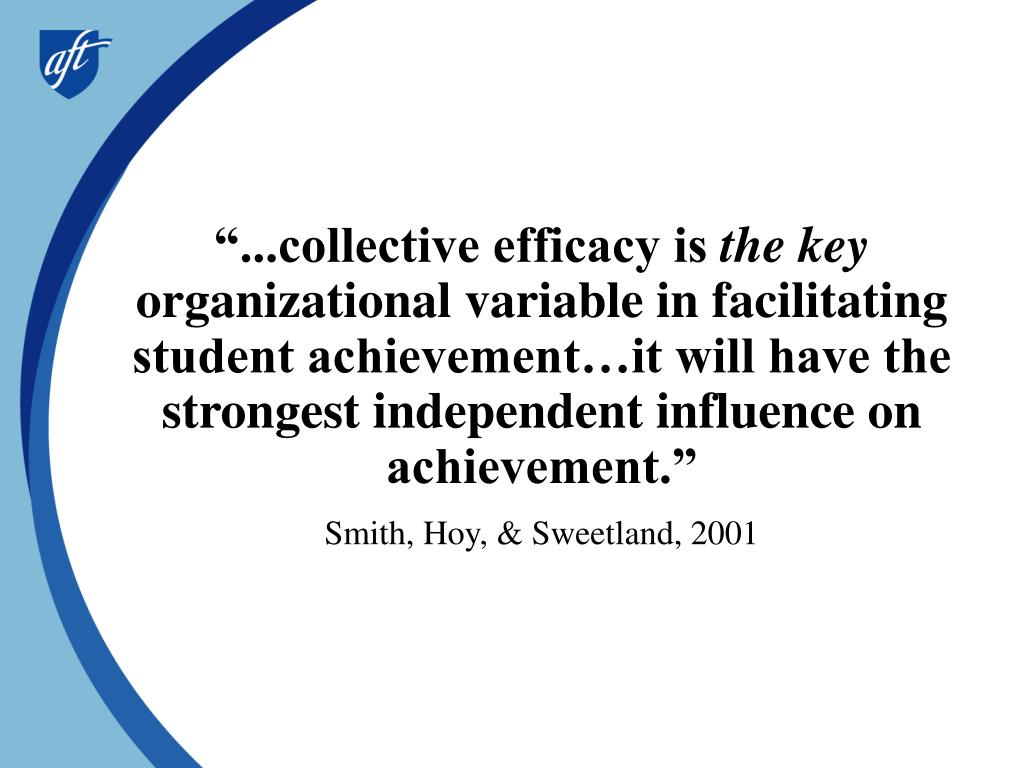 """...collective efficacy is"