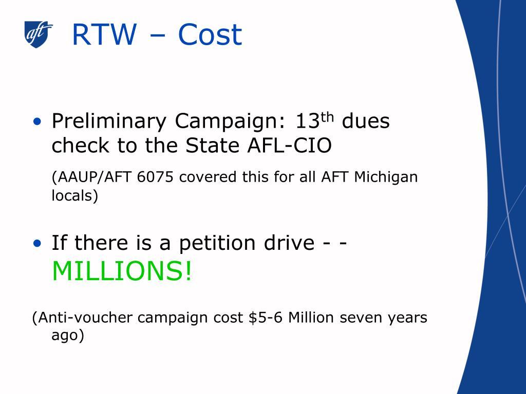 RTW – Cost