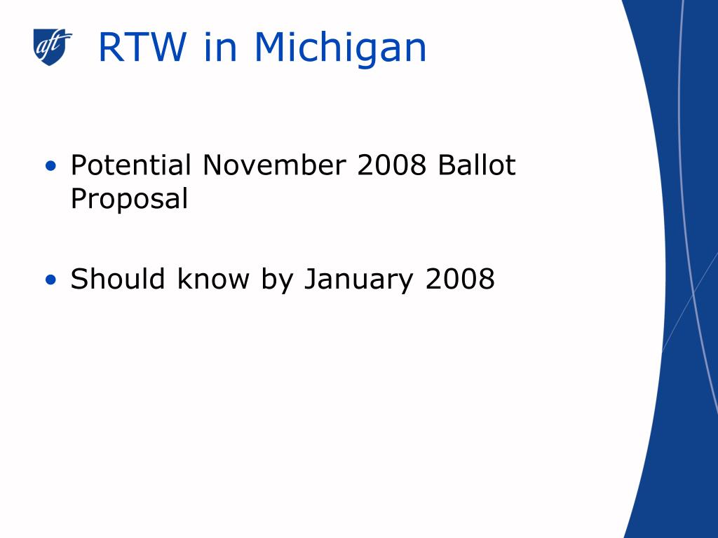 RTW in Michigan