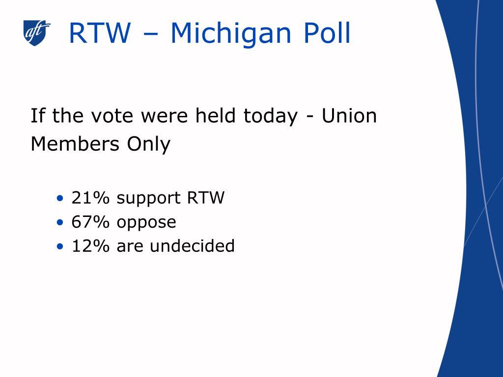 RTW – Michigan Poll