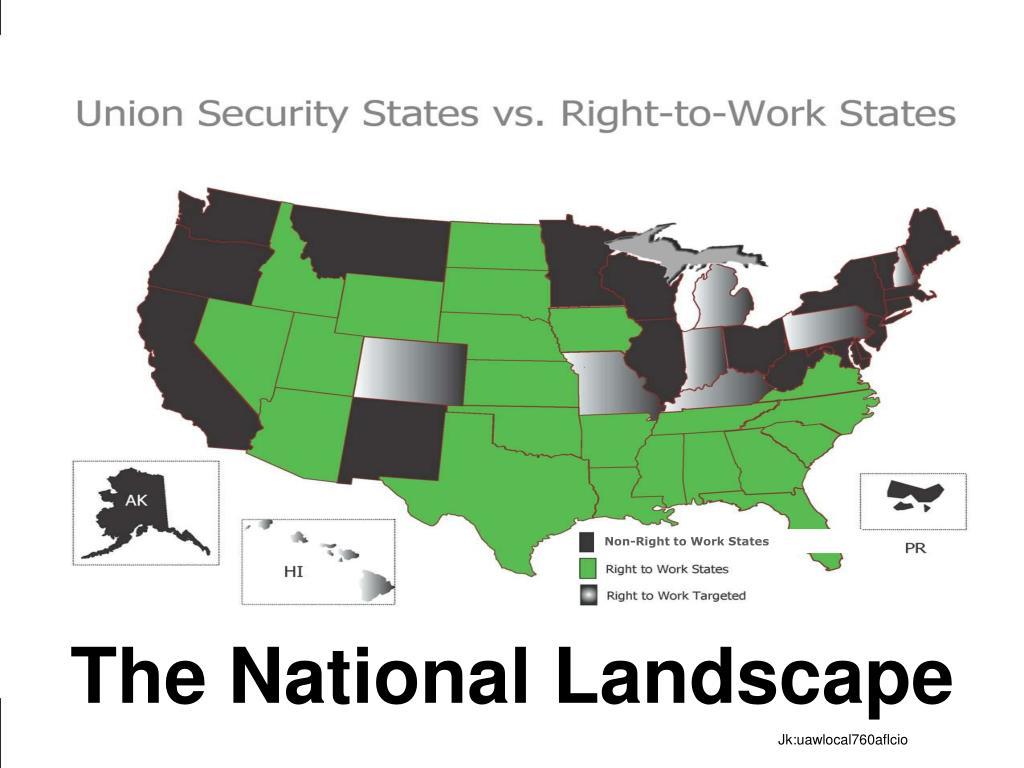 Non-Right to Work States
