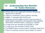 7 0 understanding your benefits 7 9 tuition remission