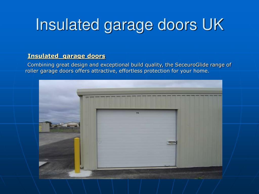 Insulated garage doors UK