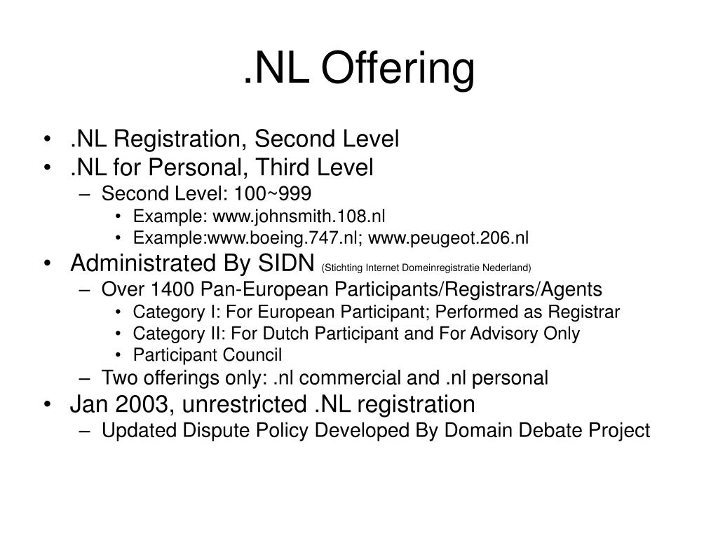 .NL Offering