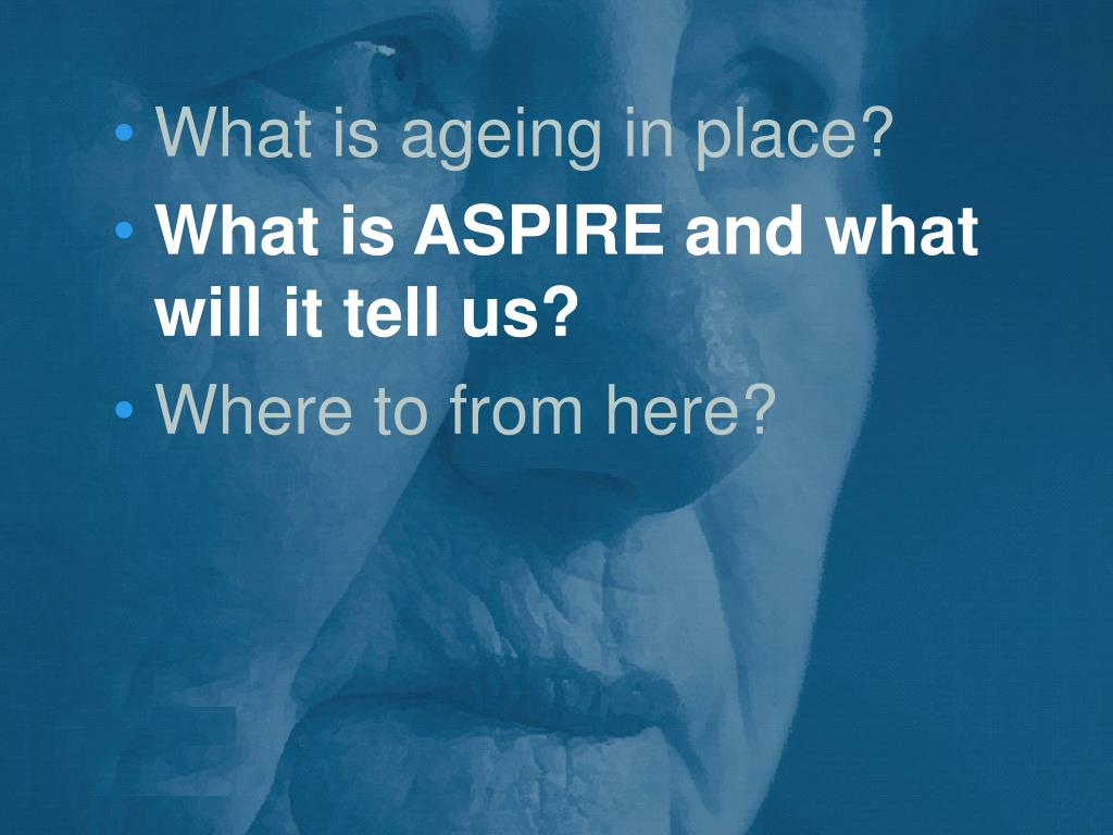 What is ageing in place?
