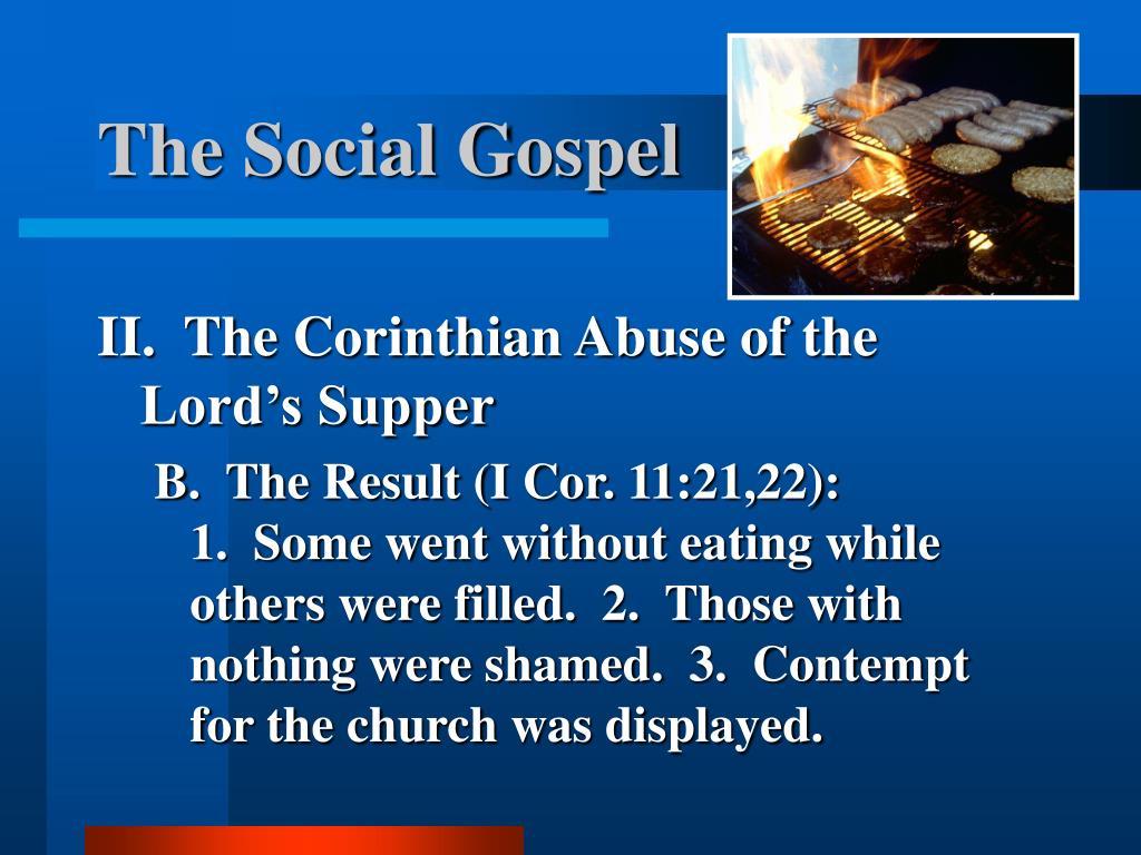 The Social Gospel