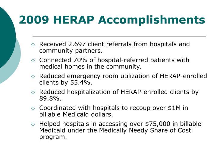 2009 HERAP Accomplishments