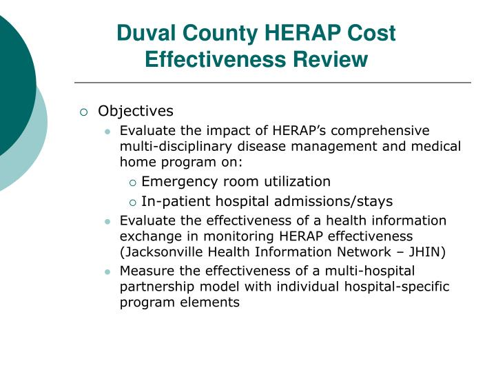 Duval County HERAP Cost Effectiveness Review