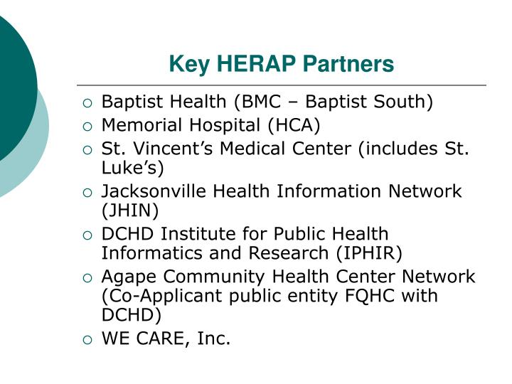 Key HERAP Partners
