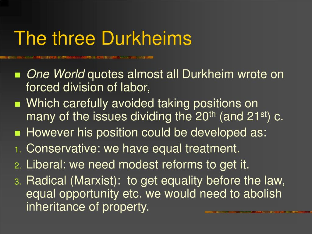 The three Durkheims