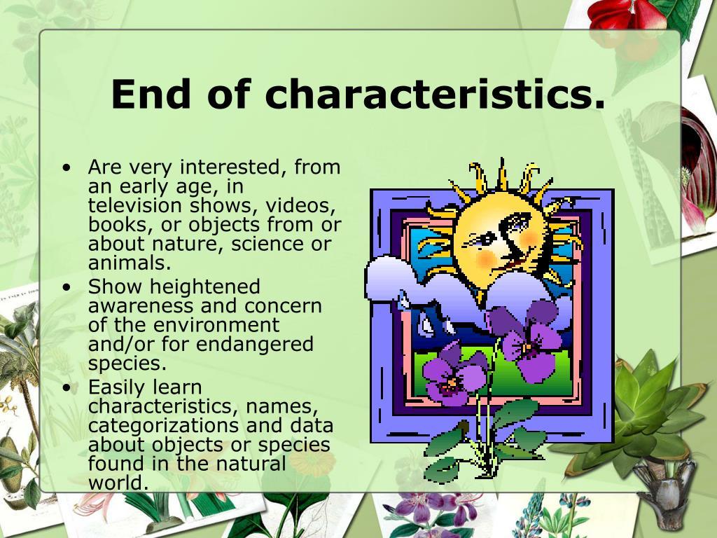 End of characteristics.