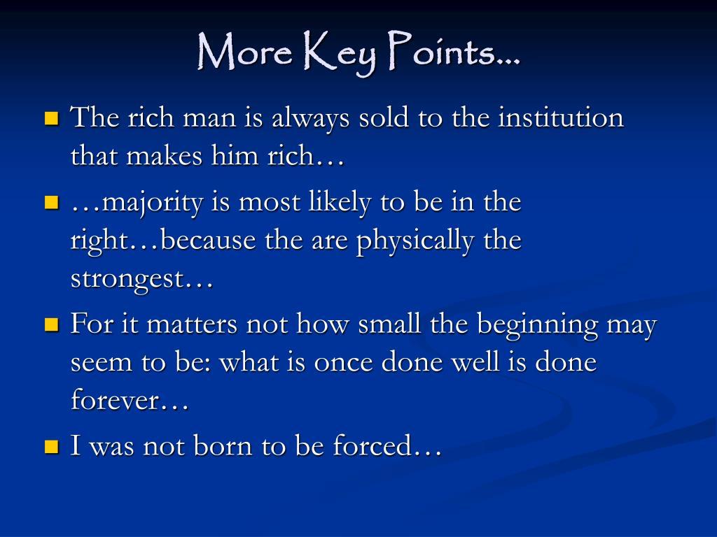More Key Points…