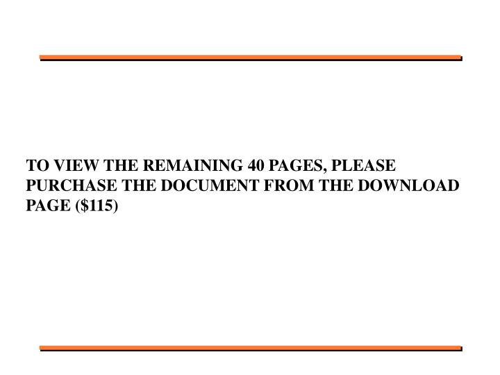 TO VIEW THE REMAINING 40 PAGES, PLEASE