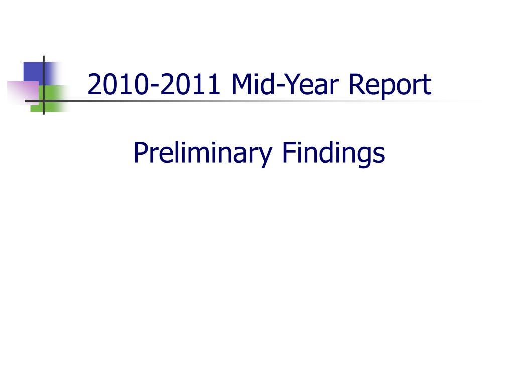 2010-2011 Mid-Year Report