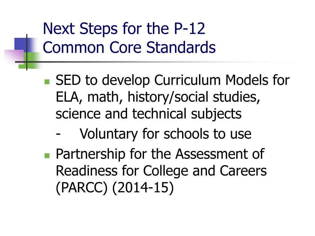 Next Steps for the P-12
