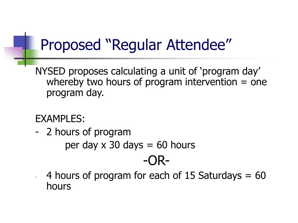 "Proposed ""Regular Attendee"""