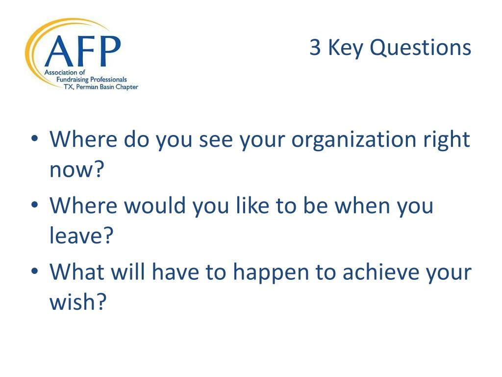 3 Key Questions