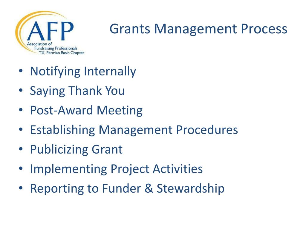Grants Management Process