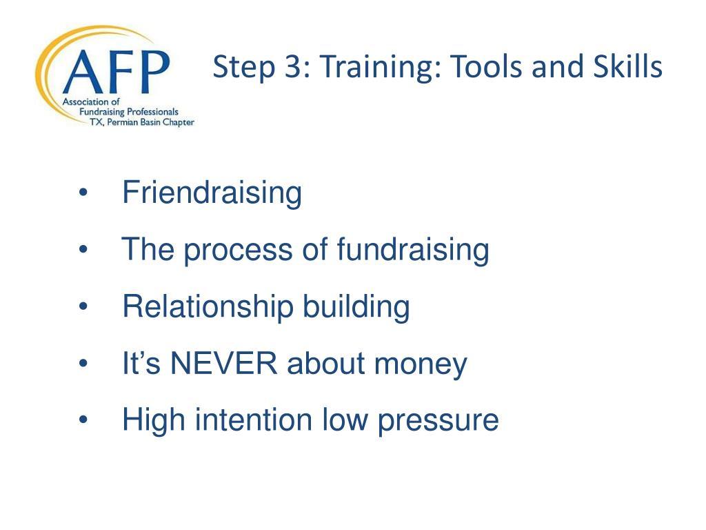 Step 3: Training: Tools and Skills