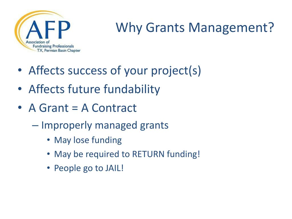Why Grants Management?
