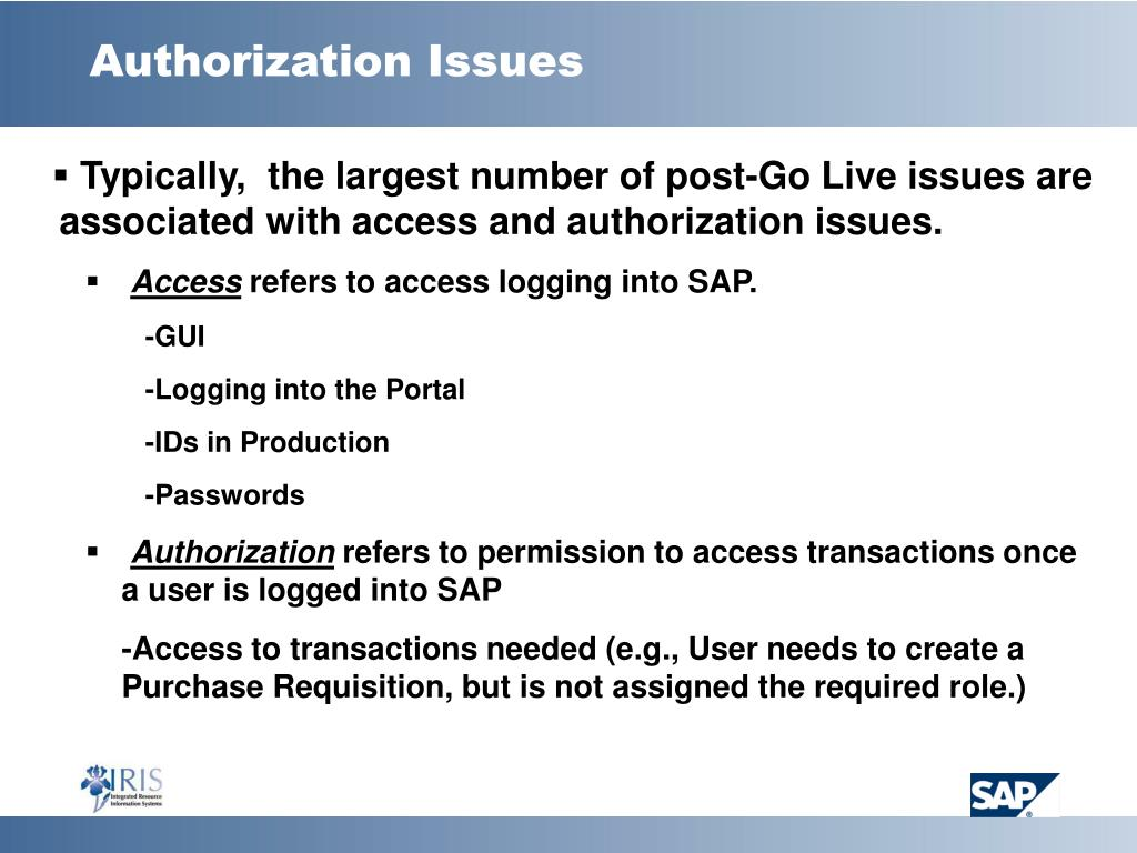 Authorization Issues