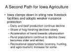 a second path for iowa agriculture