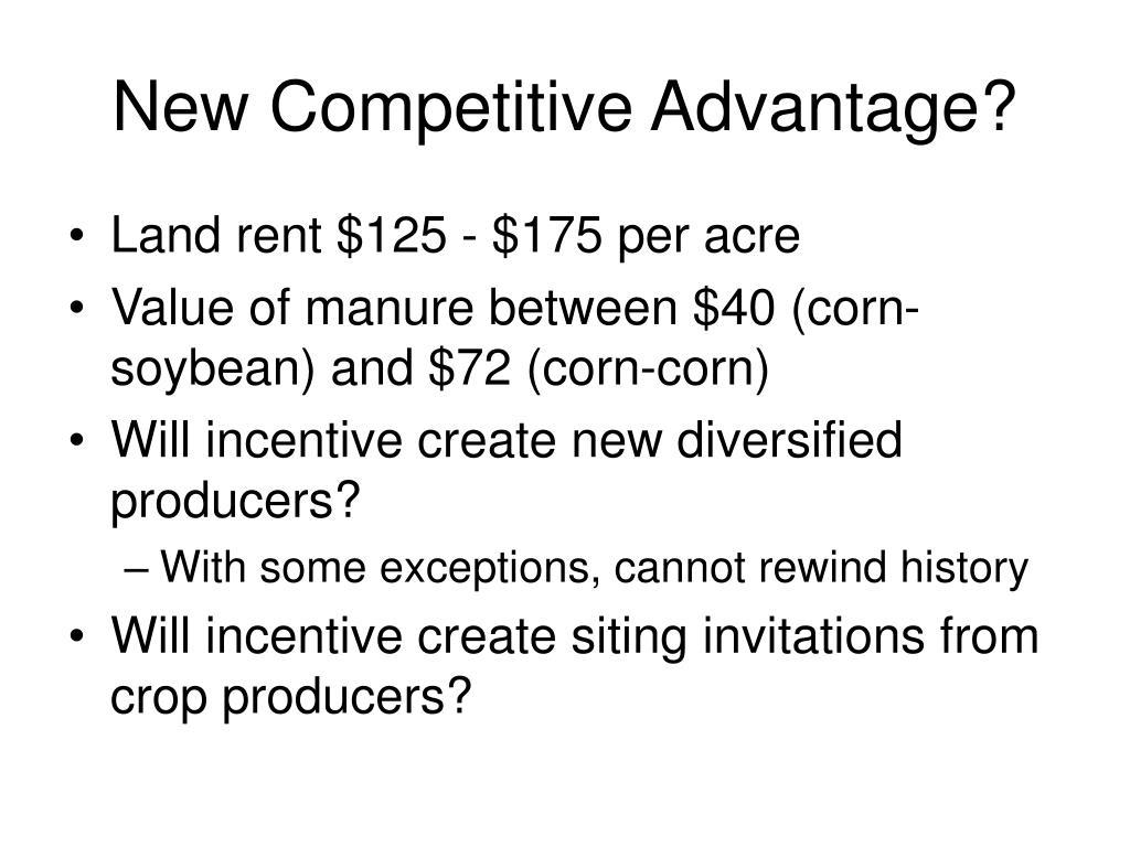 New Competitive Advantage?