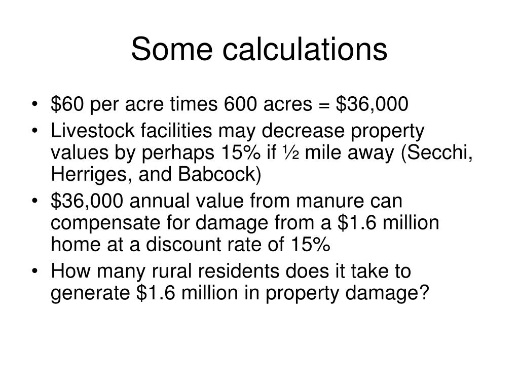 Some calculations