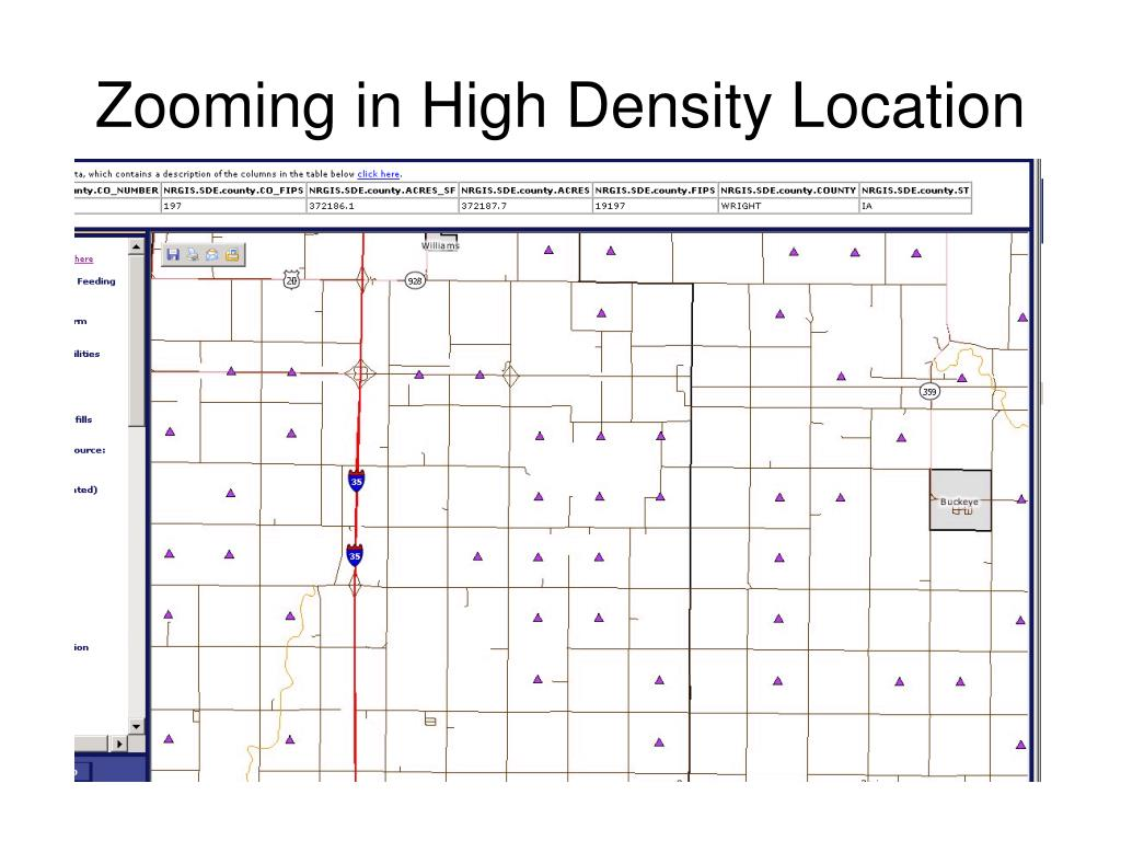 Zooming in High Density Location