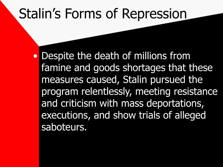 Stalin's Forms of Repression