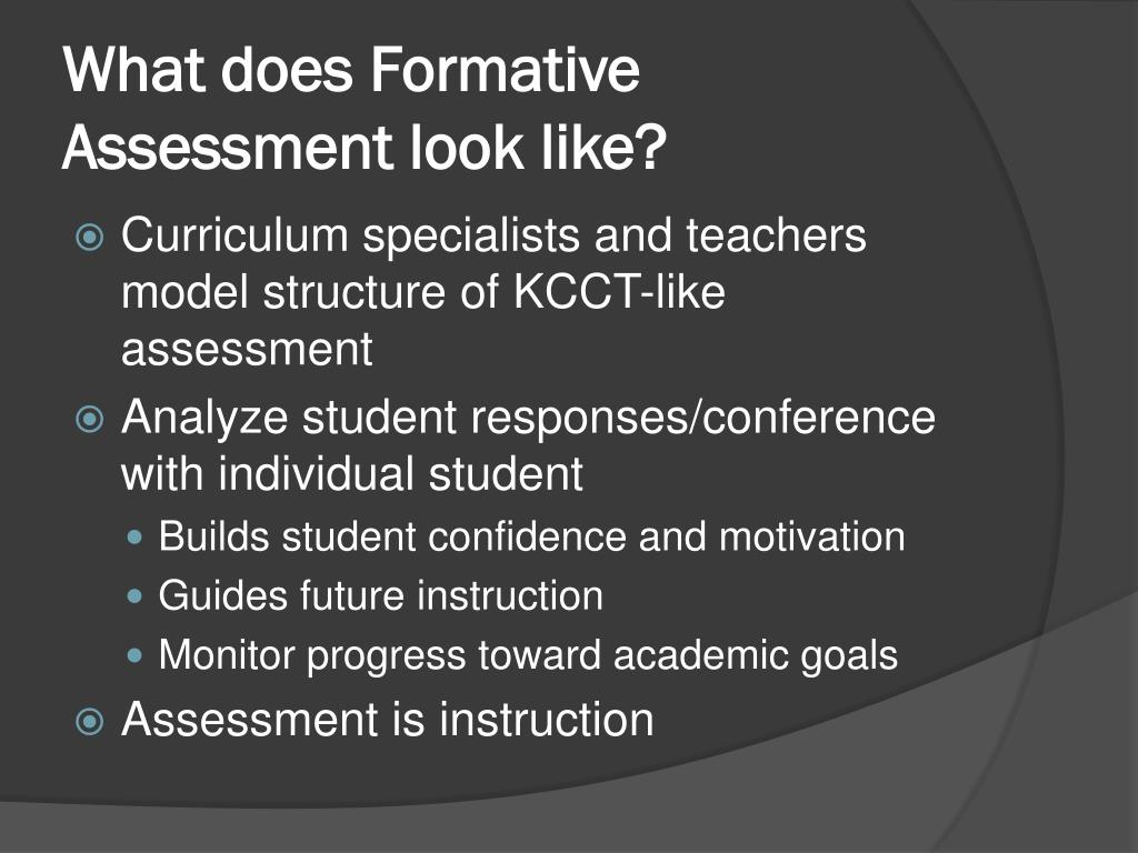 What does Formative Assessment look like?