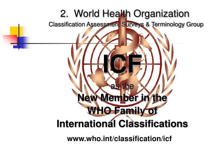 2.  World Health Organization