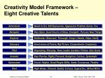 creativity model framework eight creative talents
