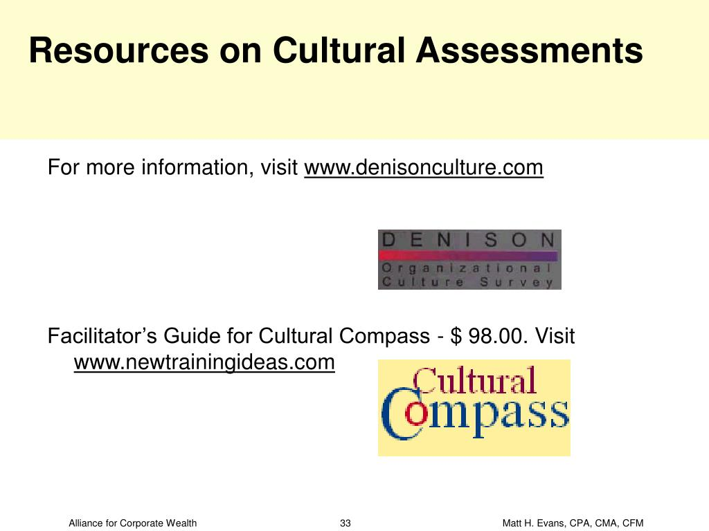 Resources on Cultural Assessments