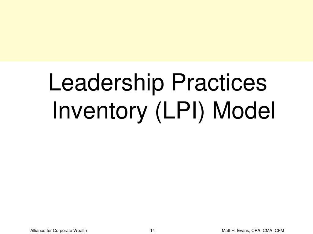 Leadership Practices Inventory (LPI) Model
