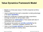value dynamics framework model