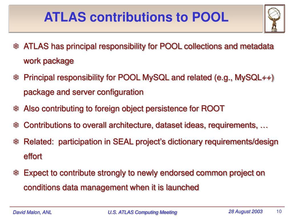 ATLAS contributions to POOL