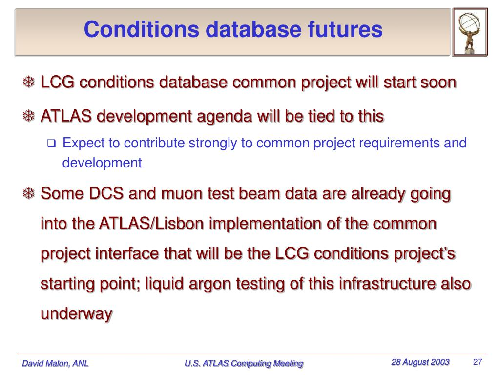 Conditions database futures
