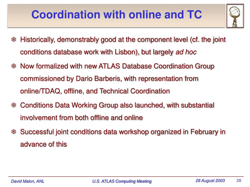 Coordination with online and TC
