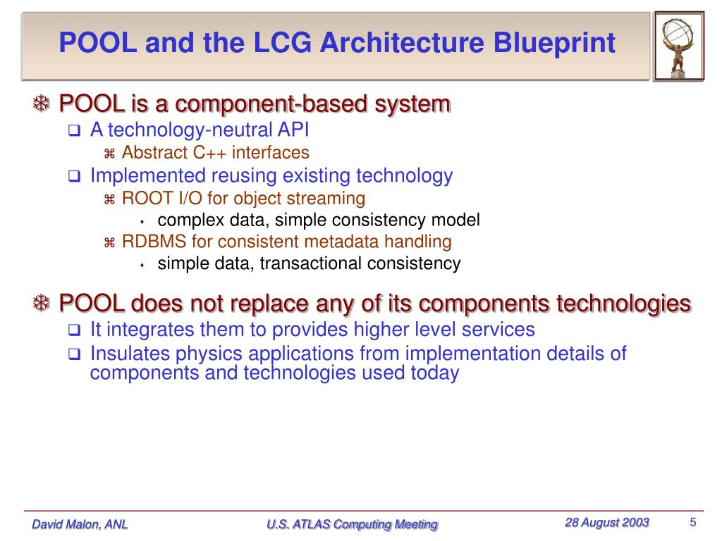 POOL and the LCG Architecture Blueprint